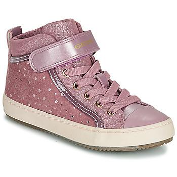 kengät Tytöt Korkeavartiset tennarit Geox J KALISPERA GIRL Pink