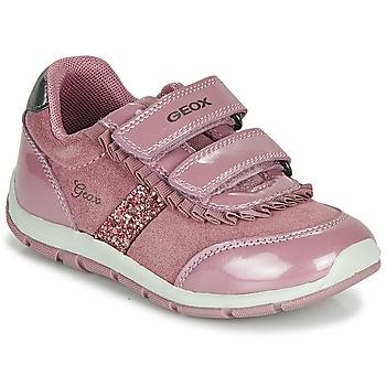 kengät Tytöt Matalavartiset tennarit Geox B SHAAX Pink