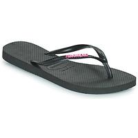 kengät Naiset Varvassandaalit Havaianas SLIM LOGO METALLIC Musta