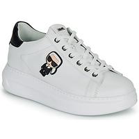 kengät Naiset Matalavartiset tennarit Karl Lagerfeld KAPRI KARL IKONIC LO LACE Valkoinen / Musta