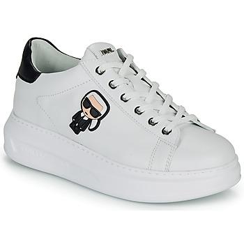 kengät Naiset Matalavartiset tennarit Karl Lagerfeld KAPRI KARL IKONIC LO LACE White / Black