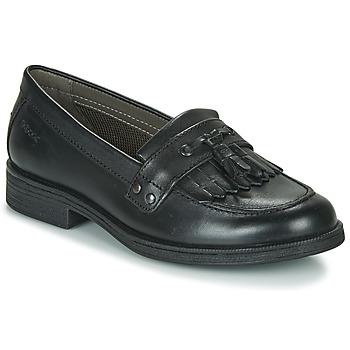 kengät Tytöt Derby-kengät Geox JR AGATA A Musta