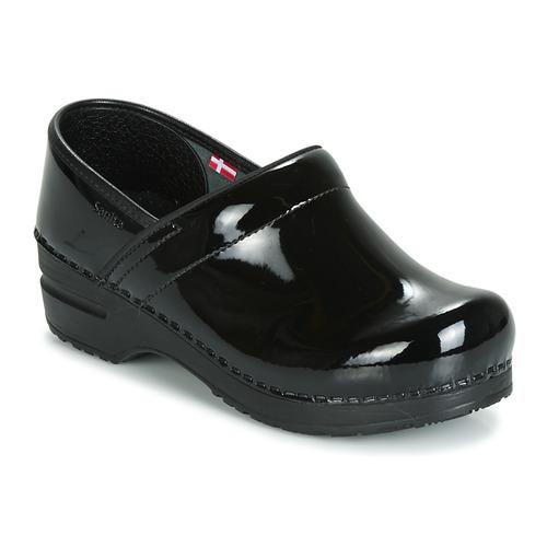 kengät Naiset Puukengät Sanita PROF Black