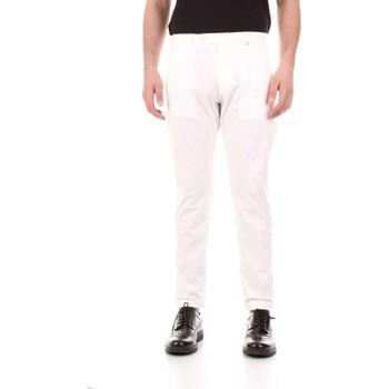 vaatteet Miehet 5-taskuiset housut Bicolore F2576-ZINCO Bianco