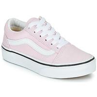 kengät Tytöt Matalavartiset tennarit Vans UY OLD SKOOL Vaaleanpunainen