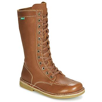 kengät Naiset Saappaat Kickers MEETKIKNEW Camel