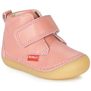 kengät Tytöt Bootsit Kickers SABIO Vaaleanpunainen