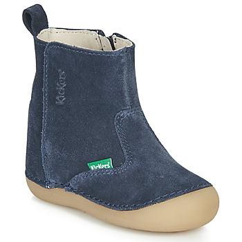 kengät Lapset Saappaat Kickers SOCOOL Laivastonsininen