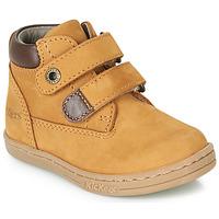kengät Pojat Bootsit Kickers TACKEASY Camel / Brown