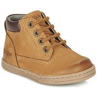 kengät Pojat Bootsit Kickers TACKLAND Camel / Brown