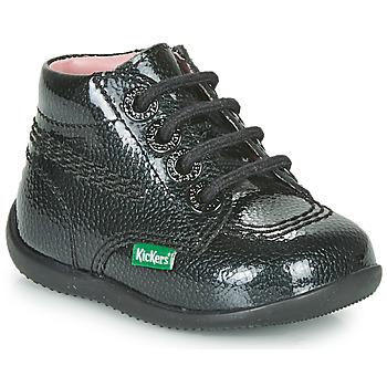 kengät Tytöt Bootsit Kickers BILLISTA ZIP Black