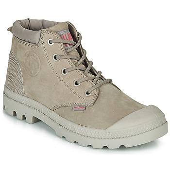 kengät Naiset Bootsit Palladium PAMPA LO CUFF LEA Grey