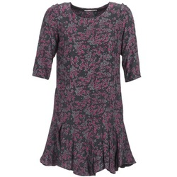 vaatteet Naiset Lyhyt mekko See U Soon BOETICO Musta / Violetti