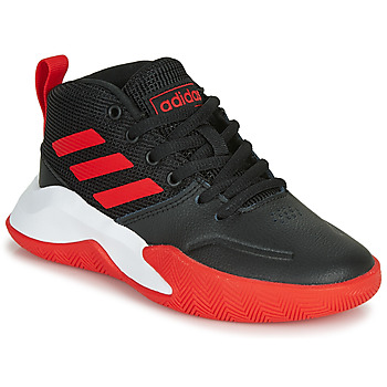 kengät Pojat Koripallokengät adidas Performance OWNTHEGAME K WIDE Black / Red