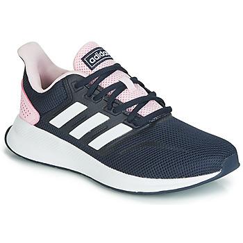 kengät Naiset Matalavartiset tennarit adidas Performance RUNFALCON Musta / Vaaleanpunainen