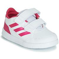 kengät Tytöt Matalavartiset tennarit adidas Performance ALTASPORT CF I White / Pink