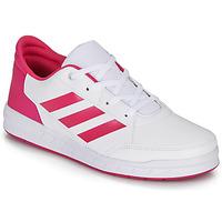 kengät Tytöt Matalavartiset tennarit adidas Performance ALTASPORT K White / Pink