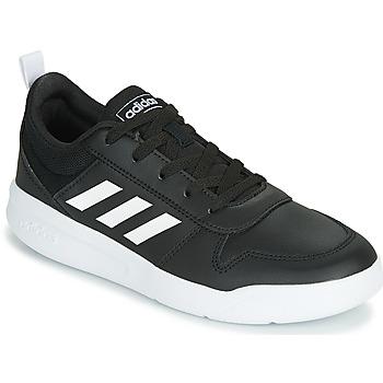 kengät Lapset Matalavartiset tennarit adidas Performance TENSAUR K Musta / Valkoinen