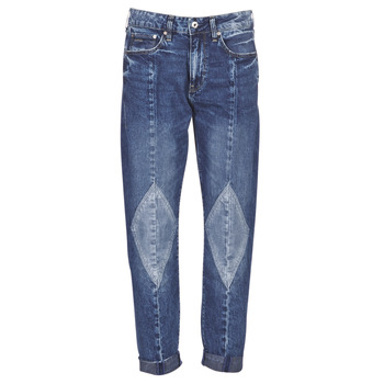 vaatteet Naiset Boyfriend-farkut G-Star Raw 3301-L MID BOYFRIEND DIAMOND Blue