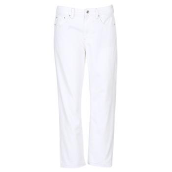 vaatteet Naiset Boyfriend-farkut G-Star Raw 3301 MID BOYFRIEND 7/8 White