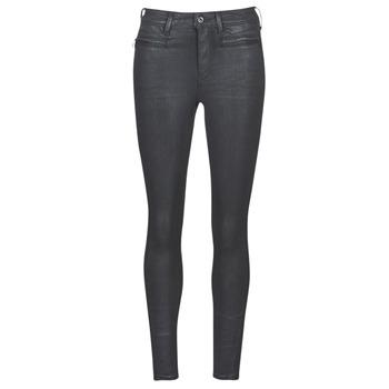vaatteet Naiset Skinny-farkut G-Star Raw ASHTIX ZIP HIGH SUPER SKINNY ANKLE WMN Black