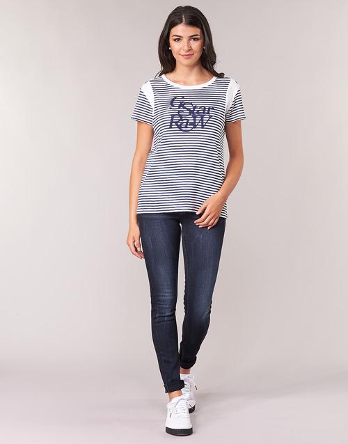 vaatteet Naiset Skinny-farkut G-Star Raw LYNN MID SKINNY WMN Blue / Sininen