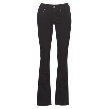 vaatteet Naiset Bootcut-farkut G-Star Raw MIDGE MID BOOTCUT WMN Black