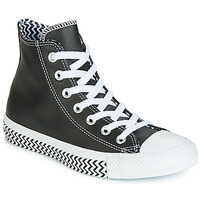 kengät Naiset Korkeavartiset tennarit Converse CHUCK TAYLOR ALL STAR VLTG LEATHER HI Black