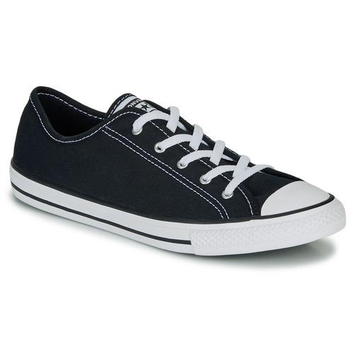 kengät Naiset Matalavartiset tennarit Converse CHUCK TAYLOR ALL STAR DAINTY GS  CANVAS OX Black