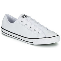 kengät Naiset Matalavartiset tennarit Converse CHUCK TAYLOR ALL STAR DAINTY GS  LEATHER OX White