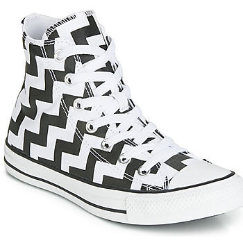 kengät Naiset Korkeavartiset tennarit Converse CHUCK TAYLOR ALL STAR GLAM DUNK CANVAS HI Black / White