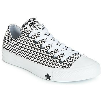 kengät Naiset Matalavartiset tennarit Converse CHUCK TAYLOR ALL STAR VLTG LEATHER OX White / Black