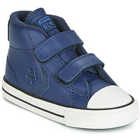 kengät Lapset Korkeavartiset tennarit Converse STAR PLAYER 2V ASTEROID LEATHER HI Blue