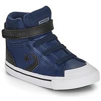 kengät Lapset Korkeavartiset tennarit Converse PRO BLAZE STRAP MARTIAN LEATHER HI Sininen / Musta