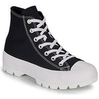 kengät Naiset Korkeavartiset tennarit Converse CHUCK TAYLOR ALL STAR LUGGED HI Black