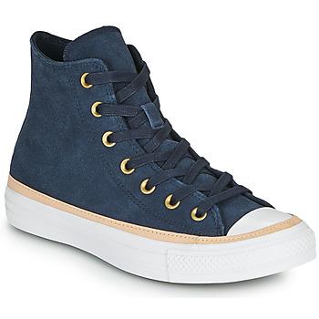 kengät Naiset Korkeavartiset tennarit Converse CHUCK TAYLOR ALL STAR VACHETTA LEATHER HI Laivastonsininen