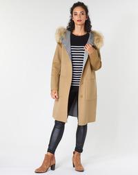 vaatteet Naiset Paksu takki Oakwood YALE BI Camel / Grey