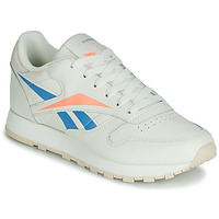 kengät Naiset Matalavartiset tennarit Reebok Classic CL LTHR Beige / Blue / Orange