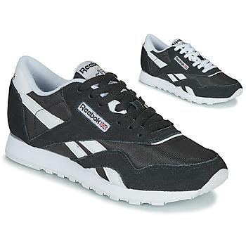kengät Naiset Matalavartiset tennarit Reebok Classic CL NYLON Black / White