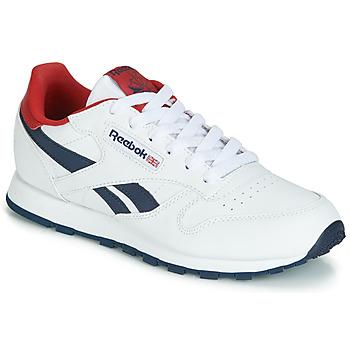 kengät Lapset Matalavartiset tennarit Reebok Classic CLASSIC LEATHER J White / Red