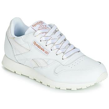 kengät Tytöt Matalavartiset tennarit Reebok Classic CLASSIC LEATHER J White / Glitter