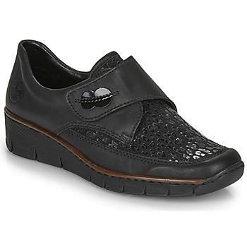 kengät Naiset Mokkasiinit Rieker 537C0-02 Black