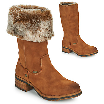 kengät Naiset Saappaat Rieker 96854-26 Camel