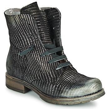 kengät Naiset Bootsit Papucei MAURA BLACK SILVER Black