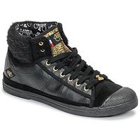 kengät Naiset Korkeavartiset tennarit Le Temps des Cerises BASIC 03 Black