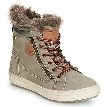 kengät Naiset Bootsit Tom Tailor MARGA Grey
