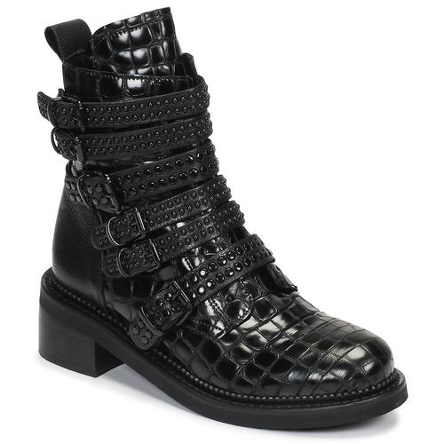 kengät Naiset Bootsit Mimmu RIPTILUS Black