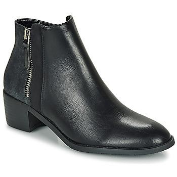kengät Naiset Bootsit Moony Mood FALINE Black