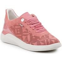 kengät Naiset Matalavartiset tennarit Geox D Theragon Vaaleanpunaiset