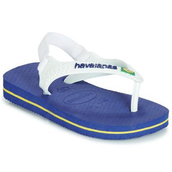 kengät Lapset Sandaalit ja avokkaat Havaianas BABY BRASIL LOGO Laivastonsininen